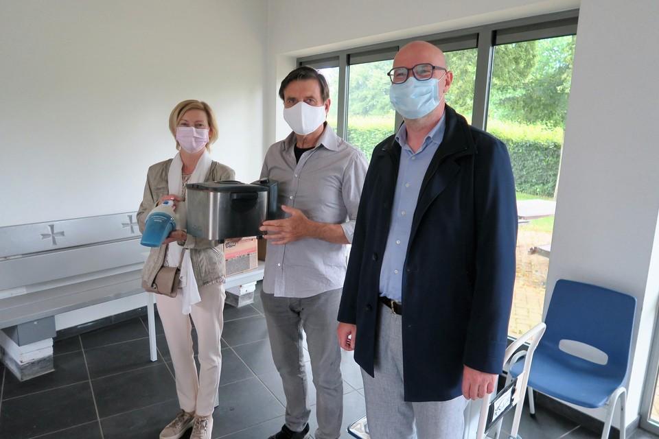Ook Ludo Bisschops en Karin Enghoen uit Sint-Job kwamen wat brengen voor Rochefort.