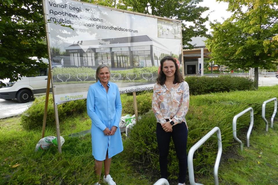 Kristel Dielis en Sophie Schrevens van Biopharm brengen zorgverlening samen in het nieuwe gezondheidscentrum.