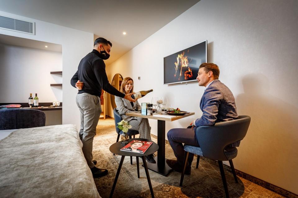 Bij het jarige Van der Valk kunnen gasten een arrangement met diner op de kamer boeken.