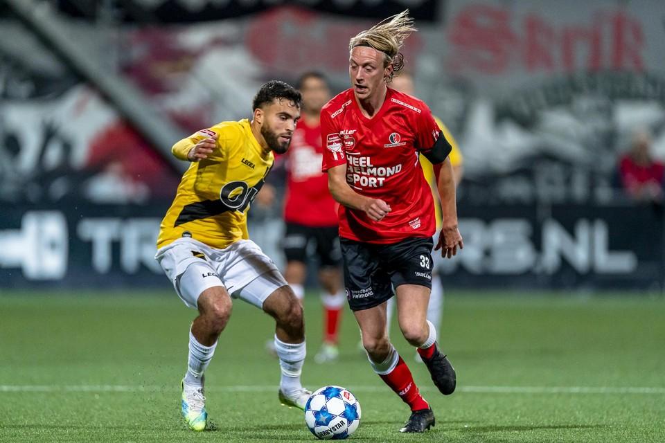Gaetan Bosiers bij Helmond Sport. Hij werd samen met Maxime De Bie vorig jaar al uitgeleend aan de Nederlandse tweedeklasser.