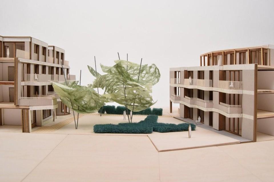 BULK Architecten ontwierpen statige, maar geen protserige appartementsgebouwen, met een fraaie binnentuin. In het gebouw aan de Paalstraat komt ook het nieuwe ruimere kantoor voor de bouwheren-notarissen Stefan Van Tricht en Walter Geeraerts.