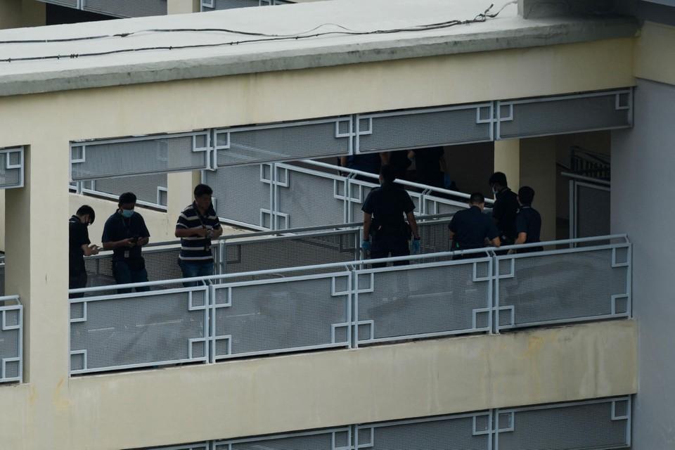 Politie aan het werk in de school