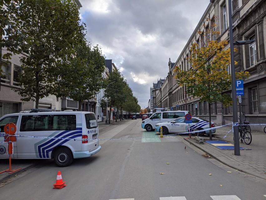 De Van Stralenstraat was door de reconstructie een tijd afgesloten voor alle verkeer.