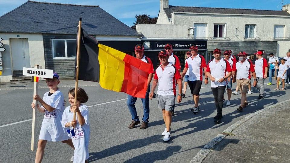 De optocht van Team Belgium, dat als outsider aan het WK begon.