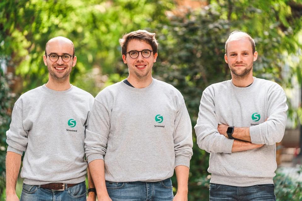 Oprichters Ignace Buelens, Nathan Coox en Laurens Vanpoucke.
