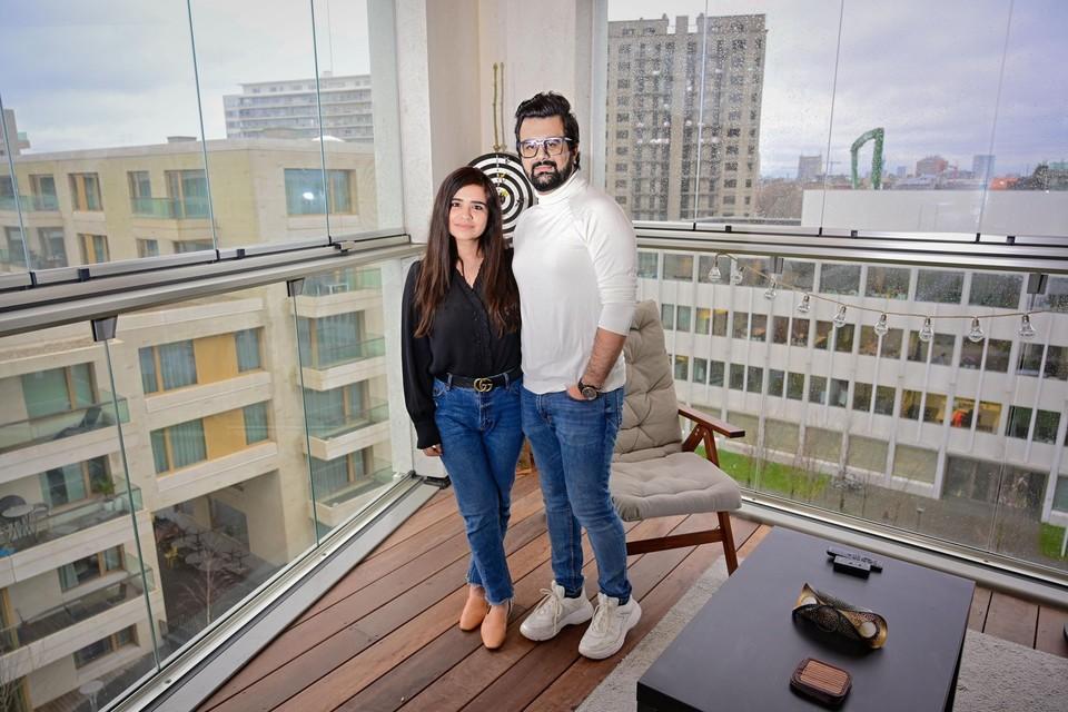 Anchal Ahuja (31) en haar man Shivam Grover (30) komen uit New Delhi. Ze verhuisden naar Antwerpen tijdens de eerste lockdown.