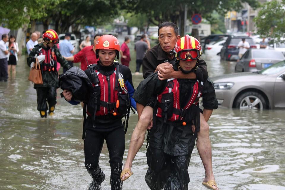 Overstromingen in China.