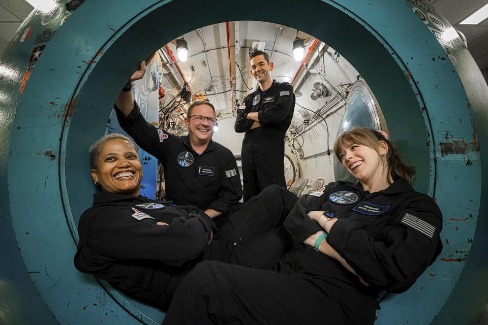 De vier ruimtevaarders