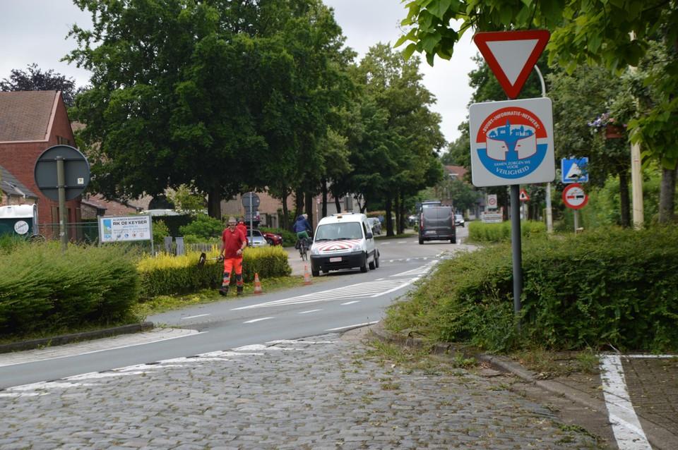 De kruising aan de Peggerstraat.