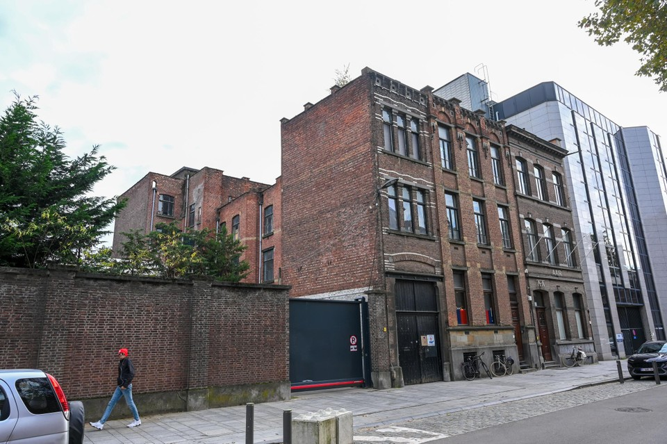 The access to the site in the Ploegstraat.
