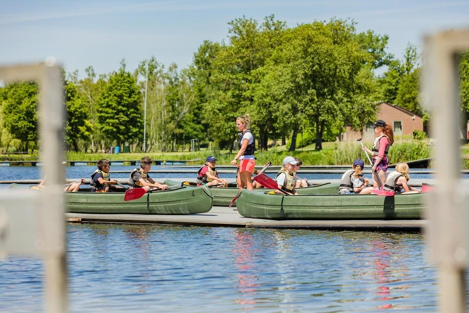 Zowel schoolkinderen als topatleten voelen zich als een vis in het water in Hazewinkel.