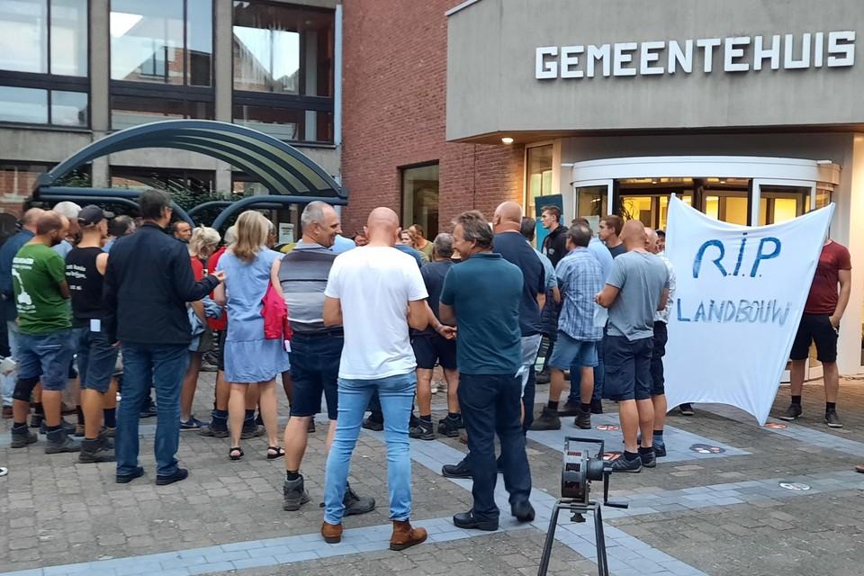 Ook in Oud-Turnhout en Ravels was er protest tegen het Nationaal Park, vooral van lokale landbouwers en leden van De Zwarte Specht.