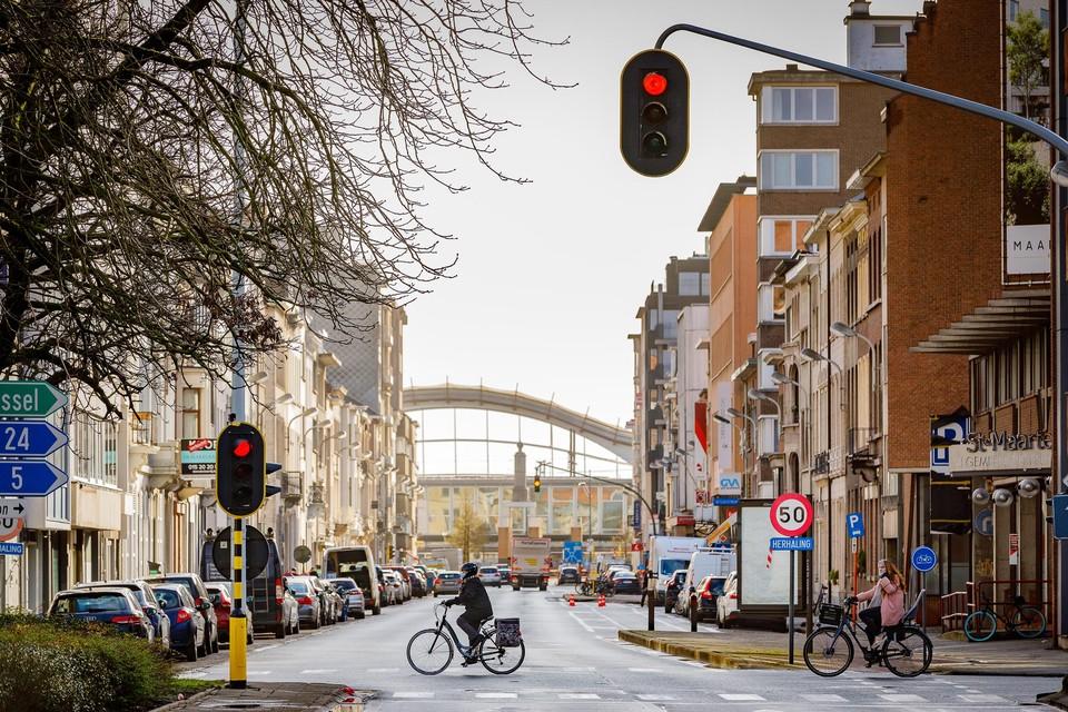 De Leopoldstraat is een van de straten waar de stad werk maakt van een tijdelijke herinrichting.