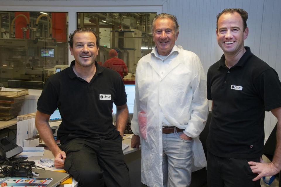 Niels, Rob en Geertjan Geuens zijn de zaakvoerders van Limar.