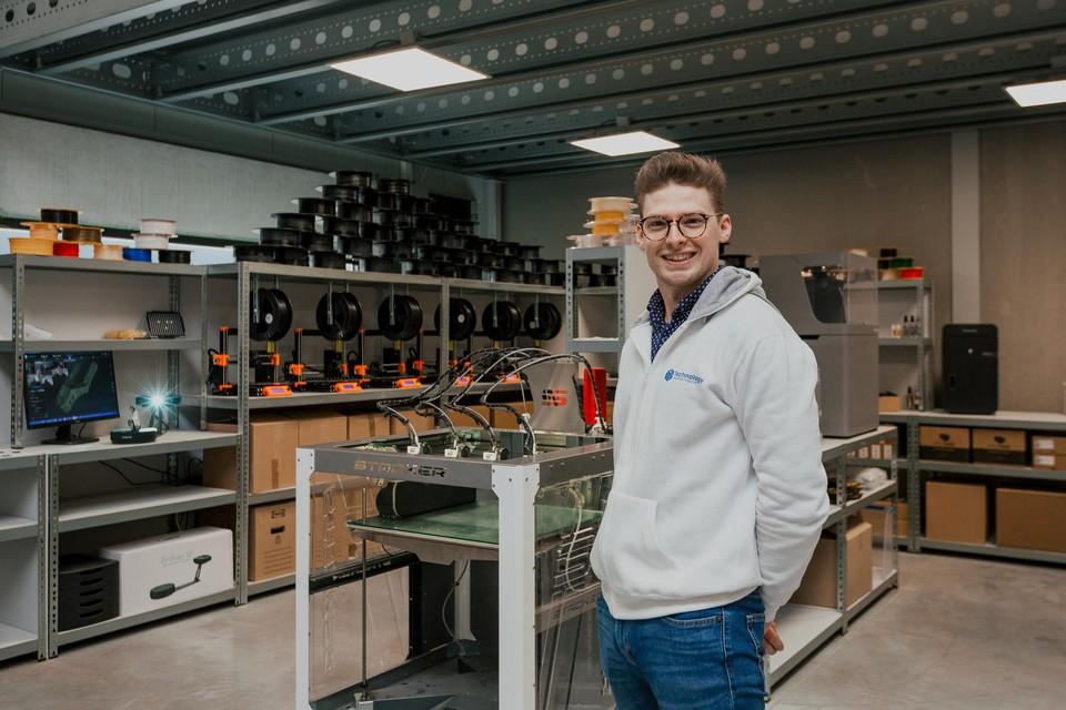 In totaal staan er zestien 3D-printers bij GS Technology in Essen.