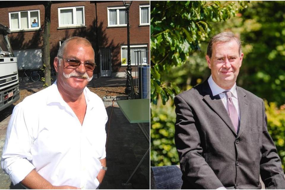 Links beste vriend Jean-Pierre, rechts proefkonijn Stefaan Denewet.