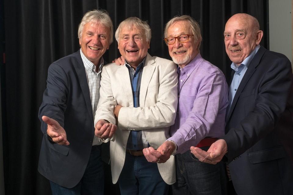 De vier Strangers, met van links naar rechts Nest Adriaenssen, John De Wilde, Alex Boeye en Bob Van Staeyen.