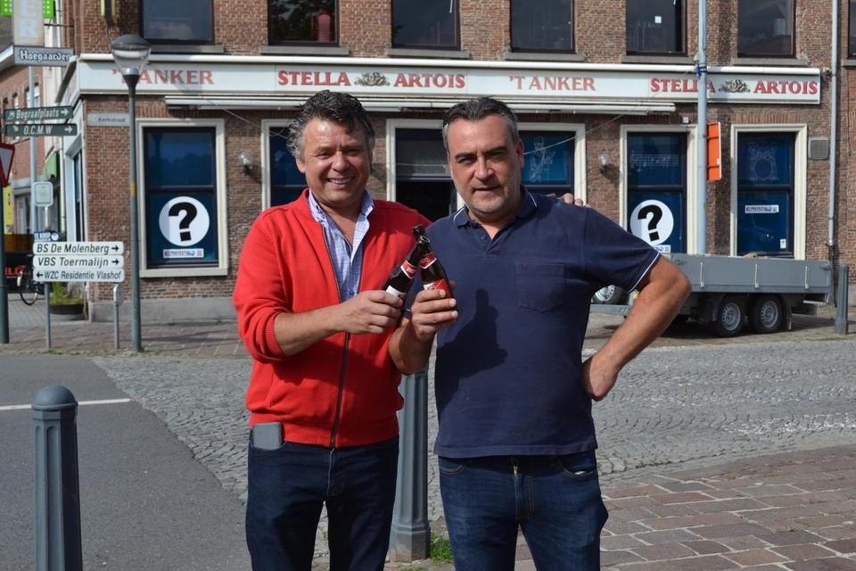 Herman en Wim klinken op Het Anker.