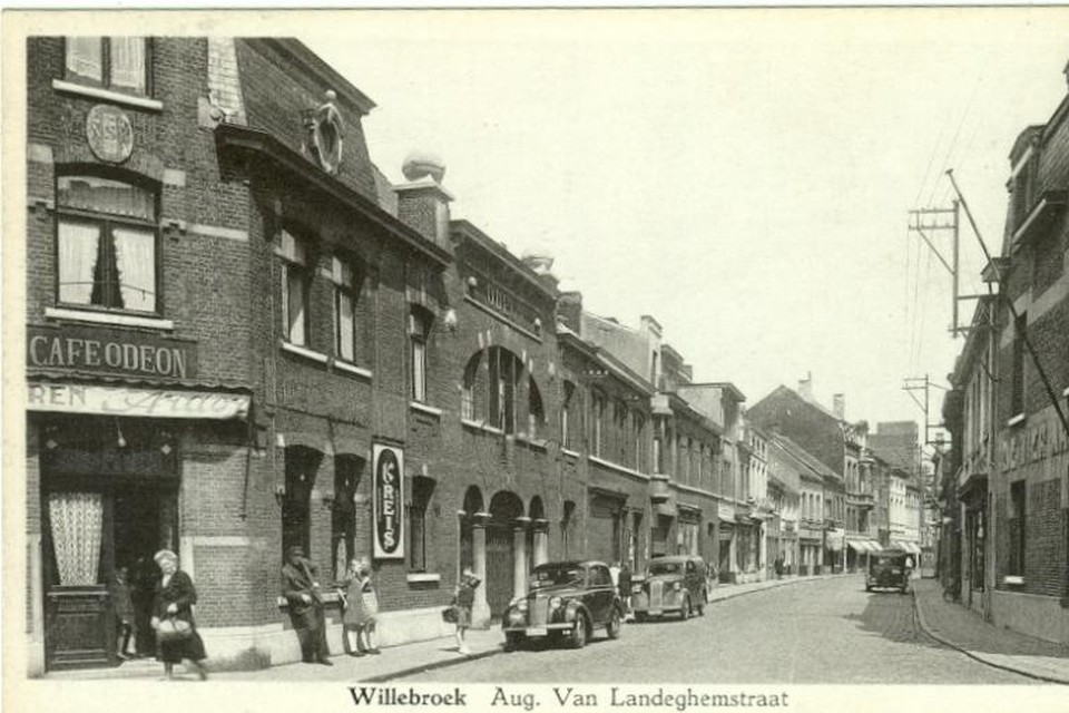 Een oude afbeelding van de August Van Landeghemstraat.