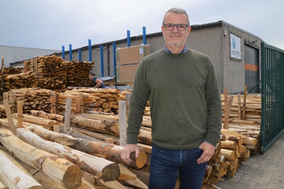 Rudi Ghelen, zaakvoerder van Ecomat, op de nieuwe locatie aan de Ringlaan in Zandhoven.