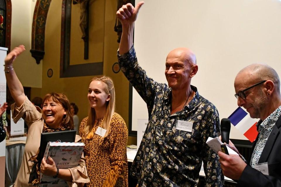 Anneke Millian, Rembert Marynen en hun dochter Silke tijdens de prijsuitreiking vorig jaar.