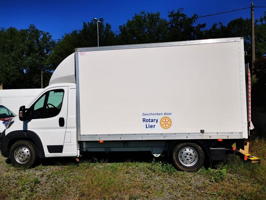 De lichte vrachtwagen.