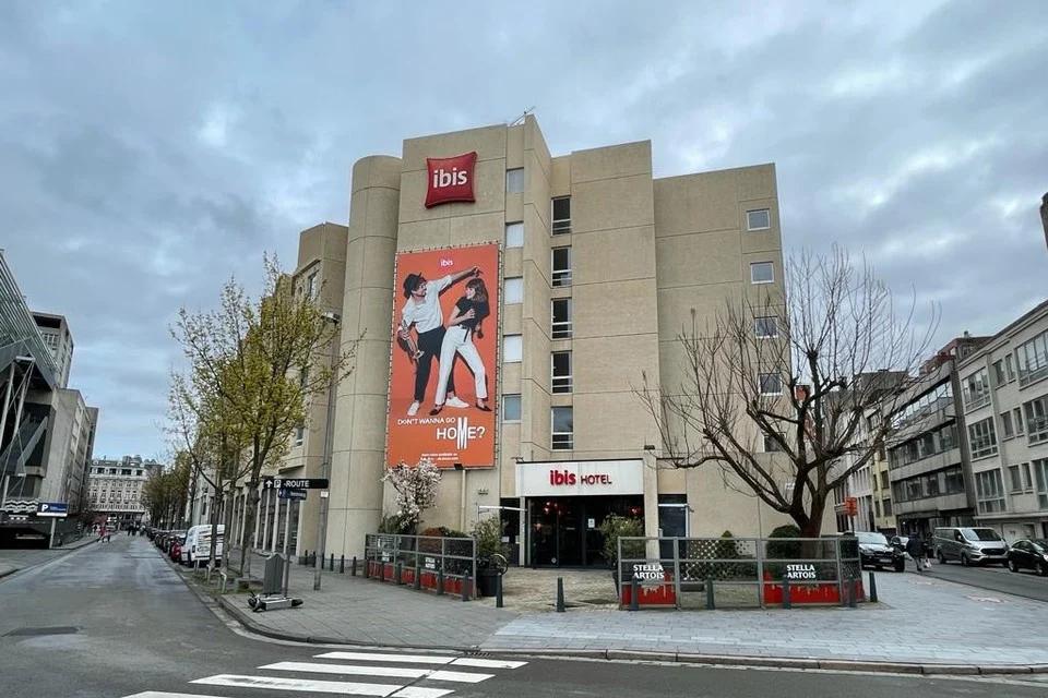 Het hotel in de Meistraat, aan het Theaterplein in Antwerpen.