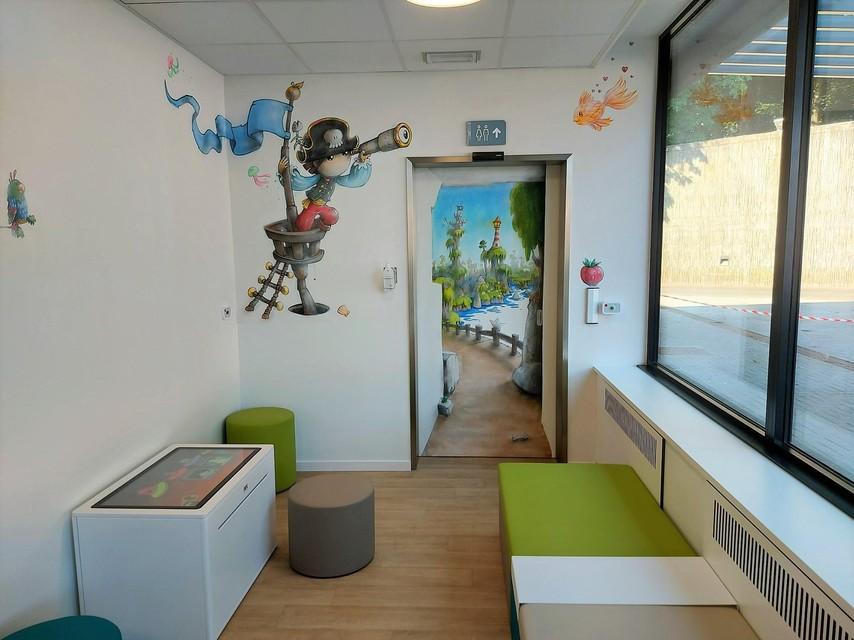 Een deel van de aparte wachtzaal voor kinderen.