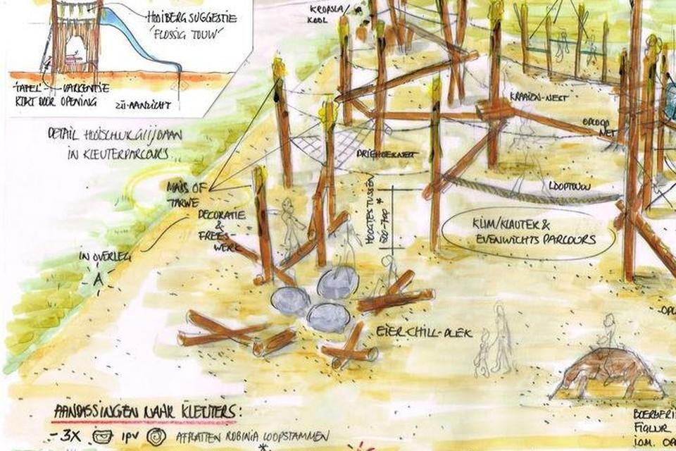 Een conceptbeeld van hoe de speeltuin er zal uitzien.