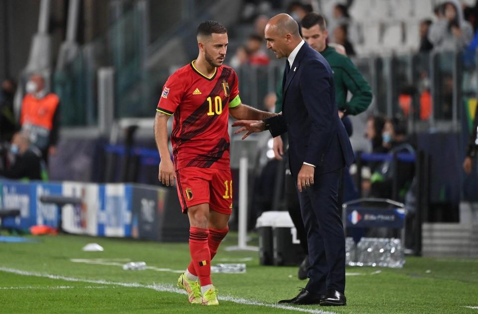 Martinez heeft genoten van Hazards eerste helft tegen Frankrijk, maar negentig minuten aan honderd procent presteren zit er momenteel niet in.