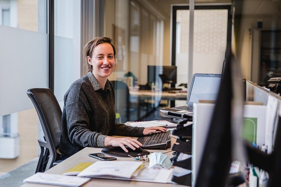 Maatschappelijk werker Isabelle Wouters.