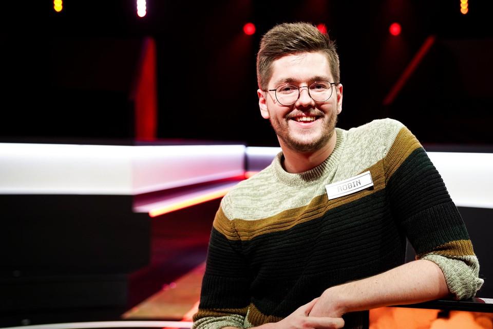 Robin De Clercq (25) wint 68.887 euro, het nettojaarloon van de meest verdienende deelnemer.