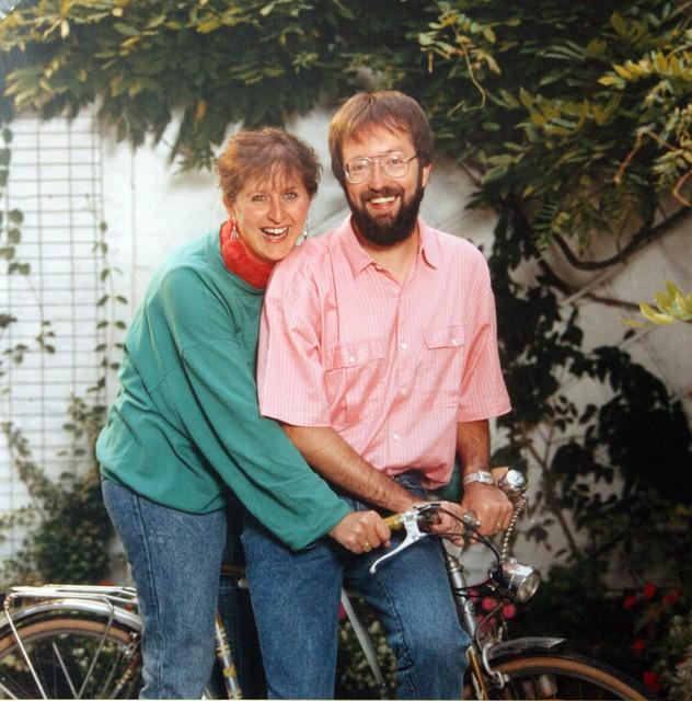Een foto van het koppel in 1988.