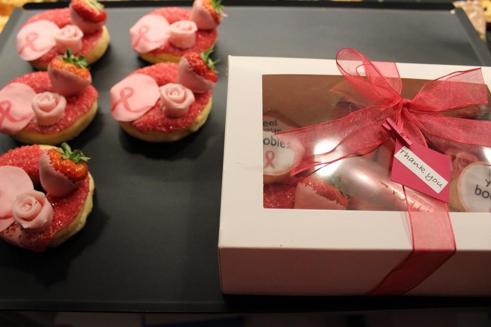 De donuts en box voor Think Pink