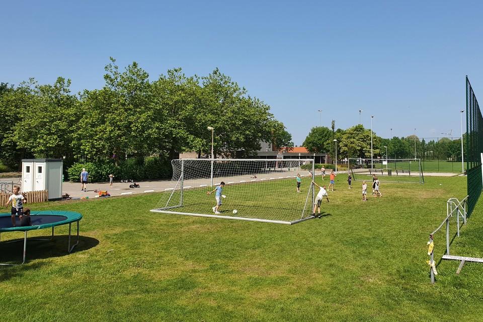 Op de graszone worden een vijftal nieuwe padelterreinen aangelegd.
