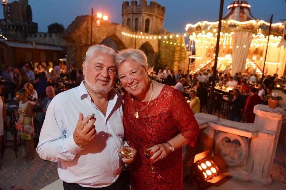 Fernand en Karine Huts tijdens het feest van 160 jaar Katoen Natie.