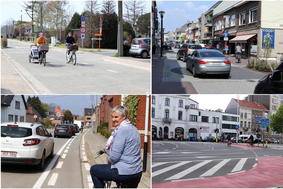 In Bonheiden (links bovenaan), Willebroek en Hombeek is er haast niets gewijzigd de voorbije drie jaar. In Mechelen (rechtsonder) en in Heist-op-den-Berg zijn er wel duidelijke inspanningen gedaan.