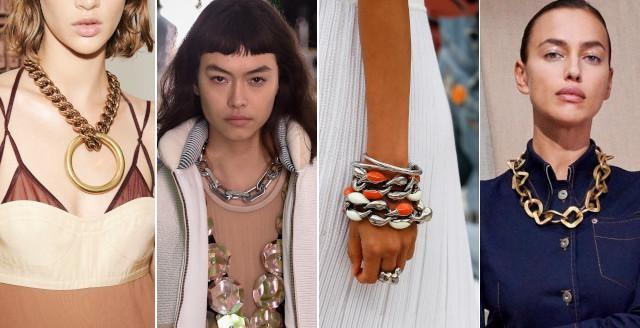 Vlnr: Victoria Beckham, Louis Vuitton, Chloe en Tod's