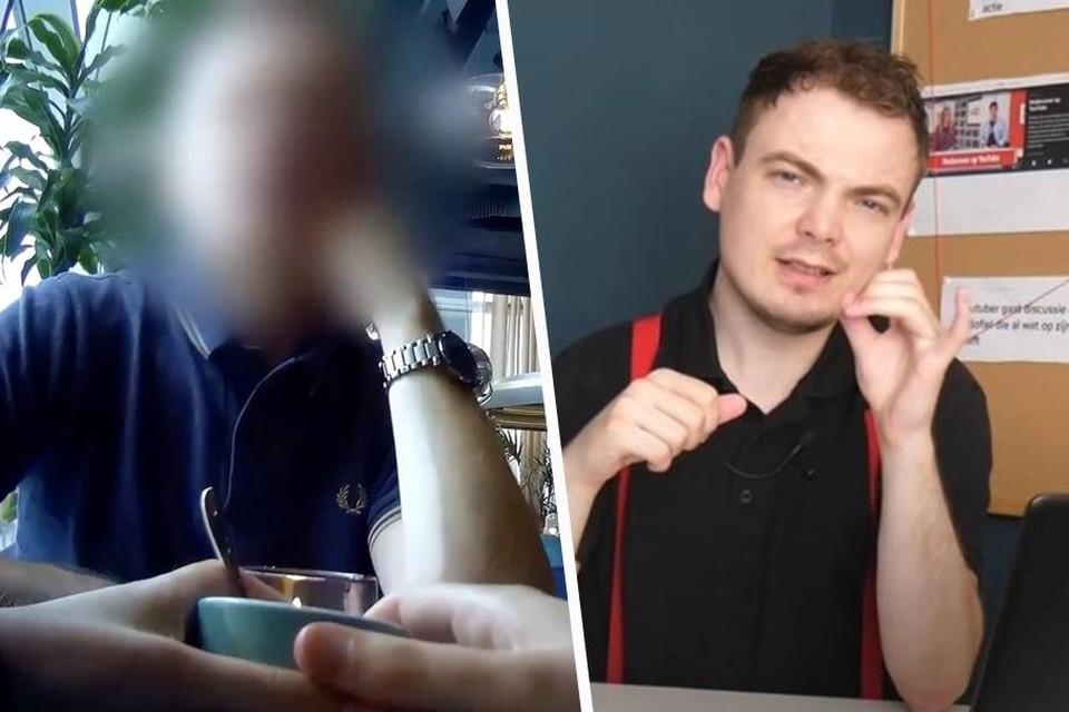 Links: de acteur, rechts: de journalist achter de undercoverreportage.