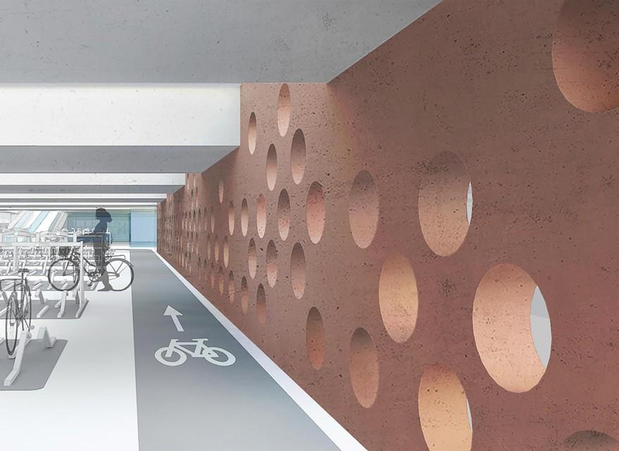 Een simulatie van de toekomstige fietsenstalling onder de Groenplaats.