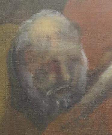 De restaurateurs sluiten niet uit dat iemand van de parochie zelf destijds het hoofd over een beschadiging schilderde.