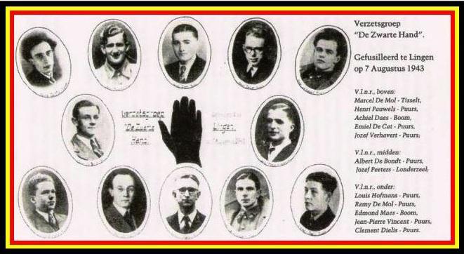 Op 7 augustus 1943 werden twaalf leiders van de Zwarte Hand gefusilleerd in Lingen.