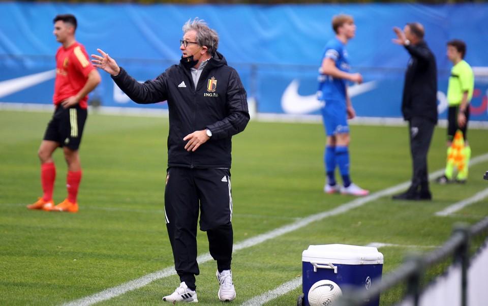 Jacky Mathijssen, de bondscoach van de nationale beloften.
