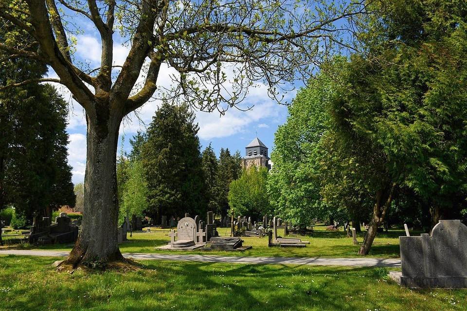 Het kerkhof van Sint-Dimpna is nu al een groene oase, maar moet dat nog meer worden.