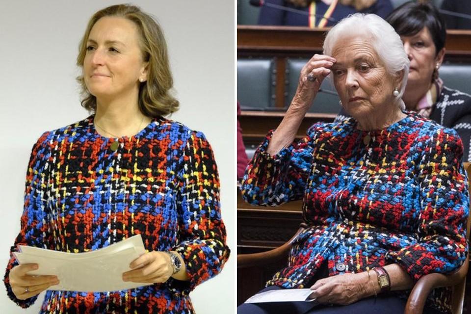 Links: Claire woensdag, rechts: Paola op Koningsdag in 2017
