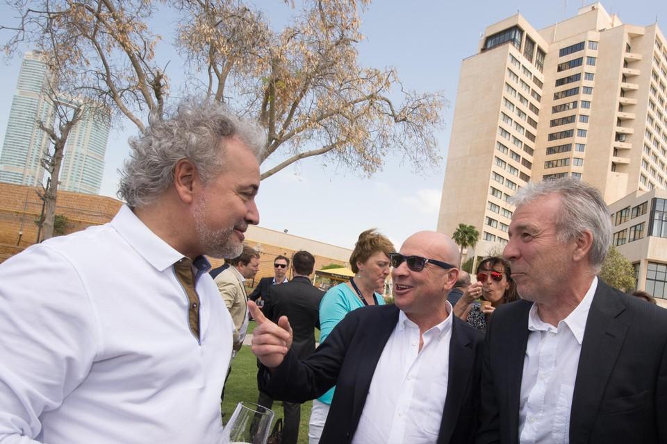 Fornieri (links) samen met D'Onofrio (midden) in Qatar in 2015