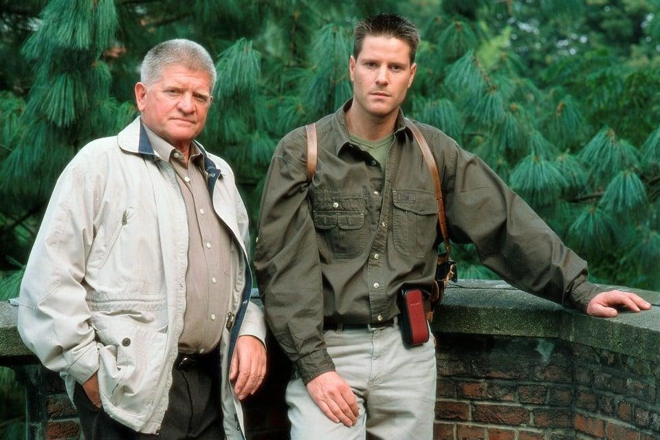 Ivo Pauwels in 1997 met zijn collega Peter Michel op de set..