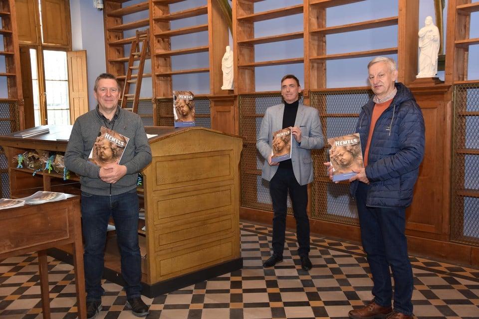 De auteurs Gert Van Kerckhoven, Benny Croket en Jos Winckelmans.