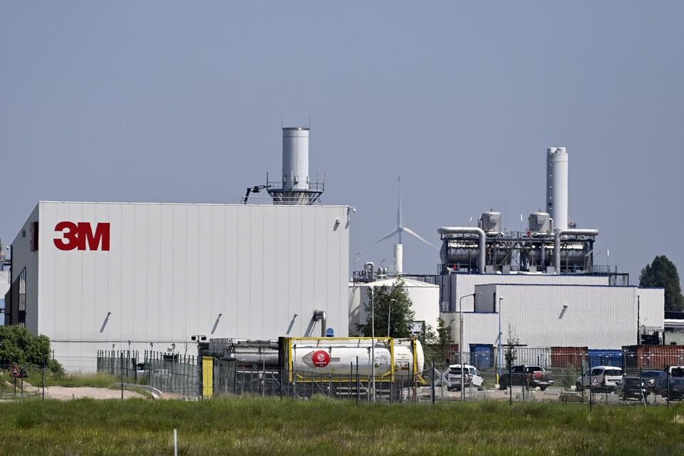 De 3M-fabriek, waarvan de PFOS-vervuiling afkomstig zou zijn.