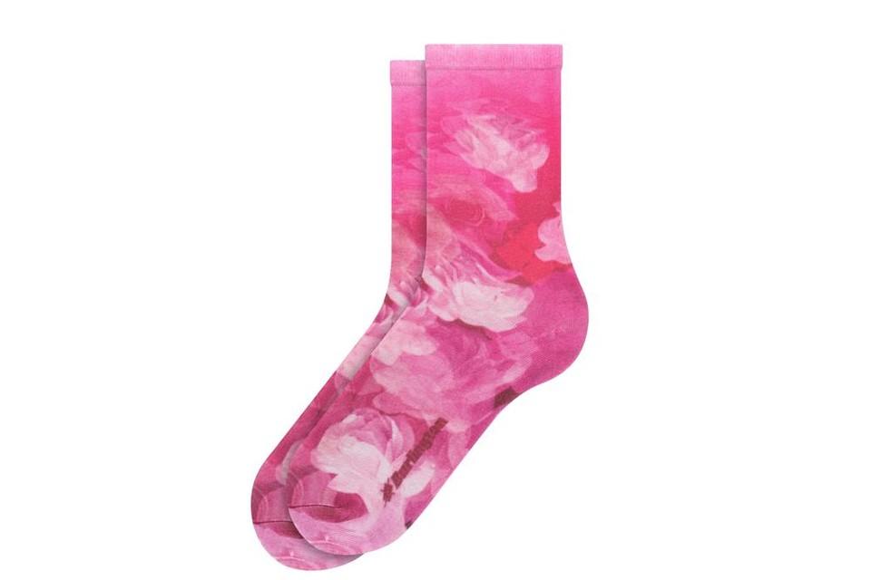 Sokken met een abstract rozenboeket - Burlington - 18 euro